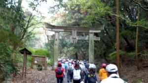天拝山入口の鳥居