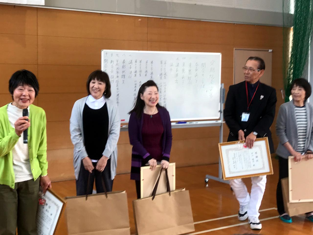 2期生、小野鈴子、曽我美智子、松本敬子、中山雄夫、松尾友子